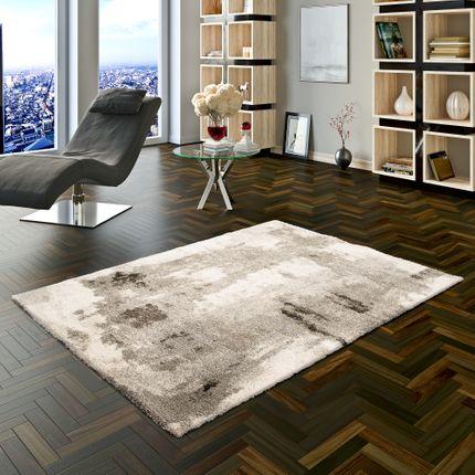 Hochflor Langflor Shaggy Teppich Milano Grau Creme Verlauf online kaufen