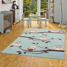 Kinderteppich Trendline Eulen Pastell Blau online kaufen