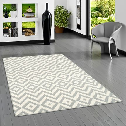 Teppich Modern Trendline Rauten Grau