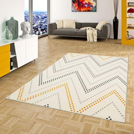 Teppich Modern Trendline Zick Zack Creme Gelb