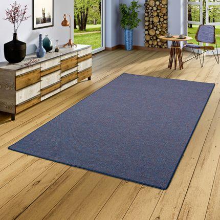 Schlingen Teppich Alma Blau Meliert online kaufen