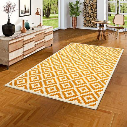Designer Teppich Passion Rauten Modern Curry online kaufen