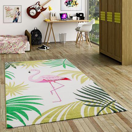 Designer Teppich Faro Tropical Flamingo Pink Creme online kaufen