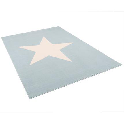 Kinder und Jugend Teppich Trendline Stern Pastell Blau online kaufen