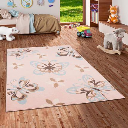 Kinderteppich Trendline Schmetterling Pastell Rosa online kaufen