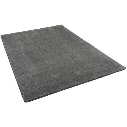 hochflor luxus velours teppich touch anthrazit teppiche hochflor langflor teppiche schwarz grau. Black Bedroom Furniture Sets. Home Design Ideas
