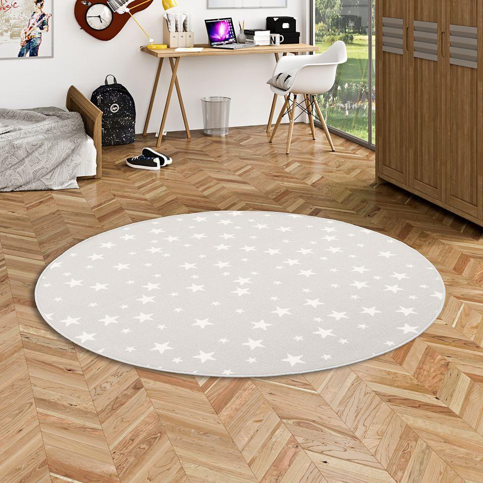 kinder spiel teppich sterne grau rund teppiche aktuelle teppich trends runde teppiche. Black Bedroom Furniture Sets. Home Design Ideas