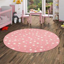 Kinder Spiel Teppich Sterne Rosa Rund online kaufen