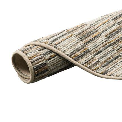 Streifenberber Teppich Modern Stripes Beige Rund online kaufen