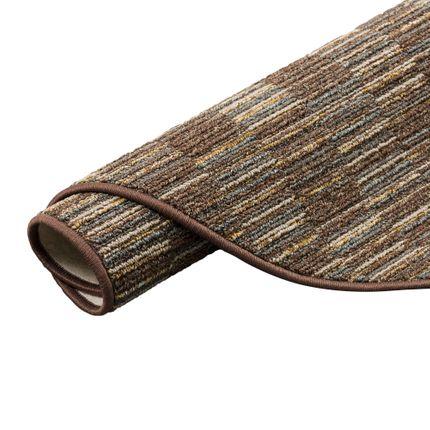 Streifenberber Teppich Modern Stripes Braun Rund online kaufen