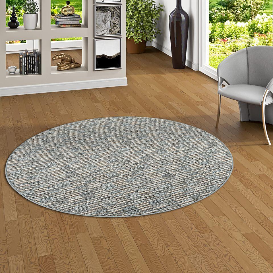 streifenberber teppich modern stripes anthrazit rund teppiche designerteppiche snapstyle teppiche. Black Bedroom Furniture Sets. Home Design Ideas