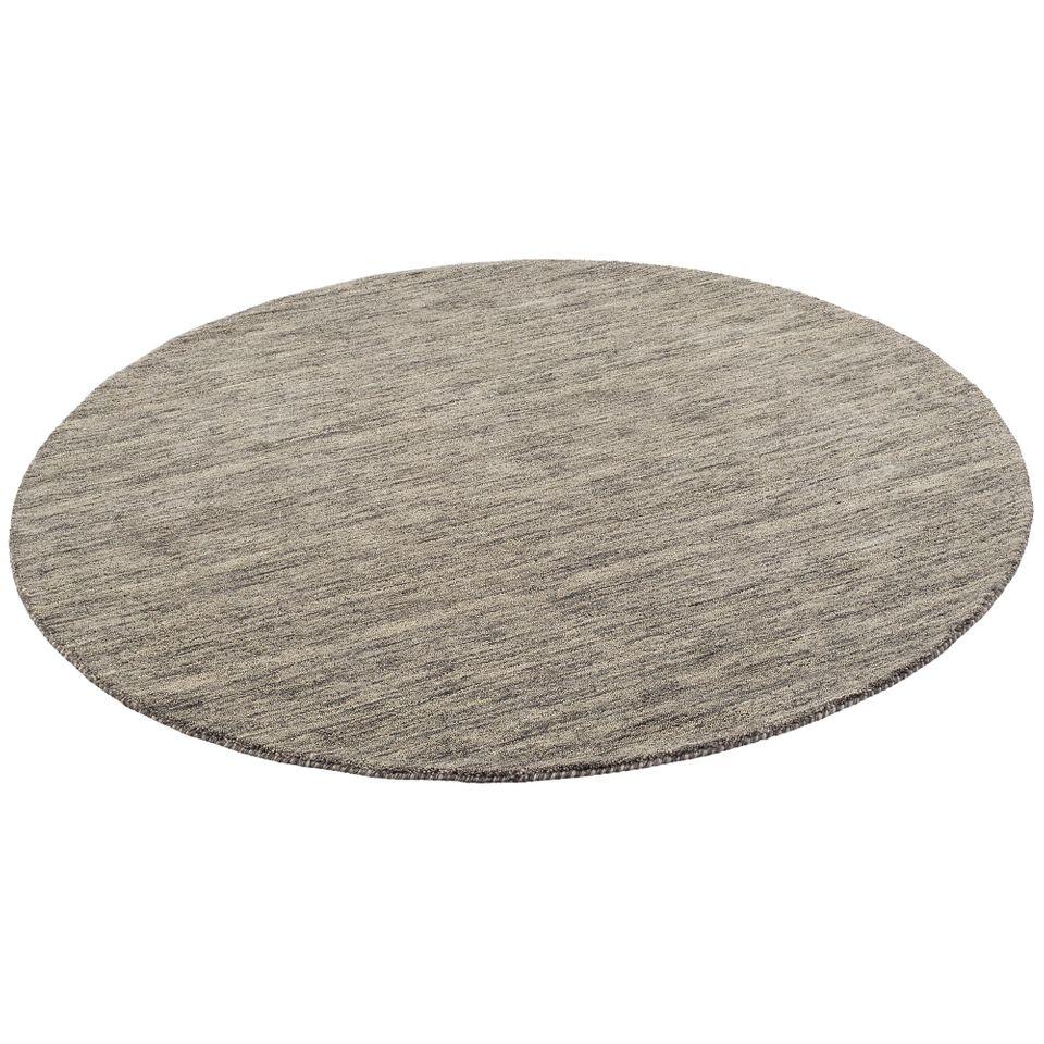 natur teppich indo gabbeh ella anthrazit rund teppiche nepal gabbeh und kelim teppiche. Black Bedroom Furniture Sets. Home Design Ideas