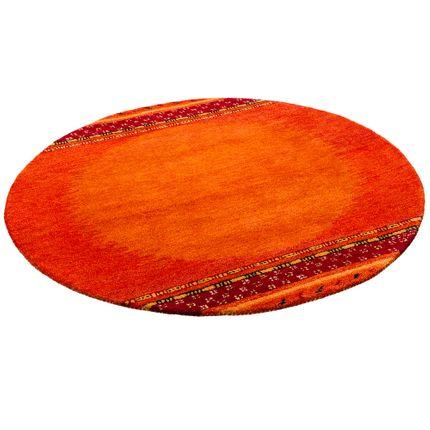 natur teppich indo gabbeh esta rot classic rund teppiche nepal gabbeh und kelim teppiche. Black Bedroom Furniture Sets. Home Design Ideas