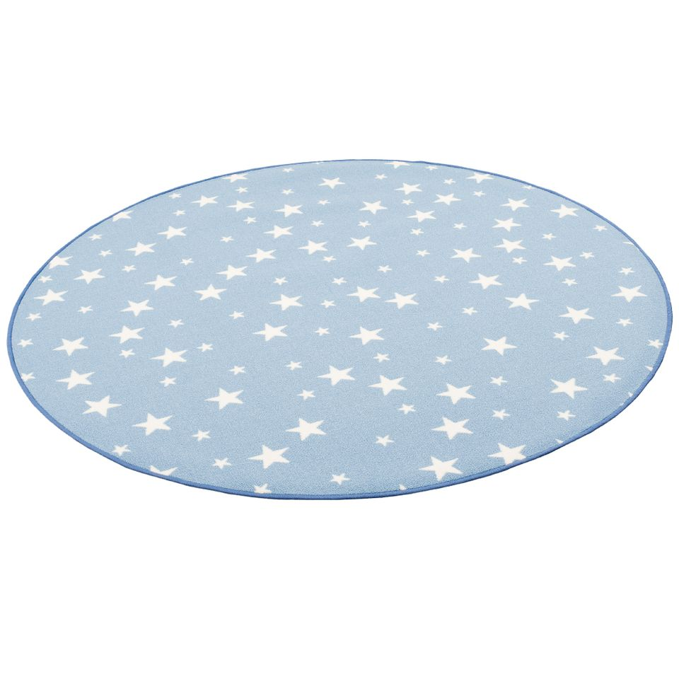 kinder spiel teppich sterne blau rund teppiche aktuelle teppich trends runde teppiche. Black Bedroom Furniture Sets. Home Design Ideas