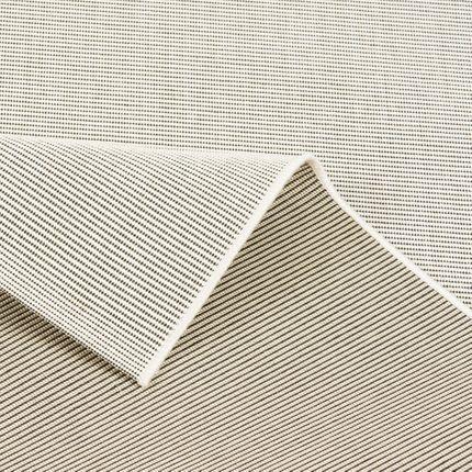 In- und Outdoor Teppich Flachgewebe Carpetto Uni Creme Mix