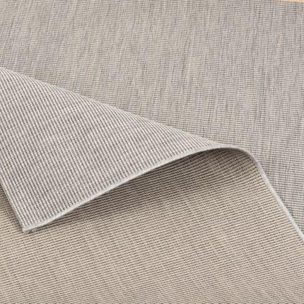 In- und Outdoor Teppich Flachgewebe Carpetto Uni Grau Mix