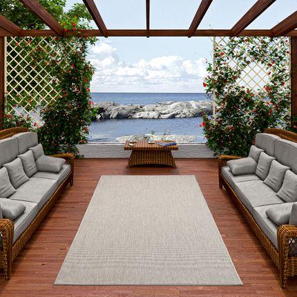 In- und Outdoor Teppich Flachgewebe Carpetto Uni Grau Mix online kaufen