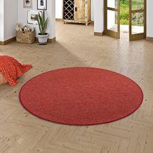 Schlingen Teppich Alma Rot Meliert Rund online kaufen