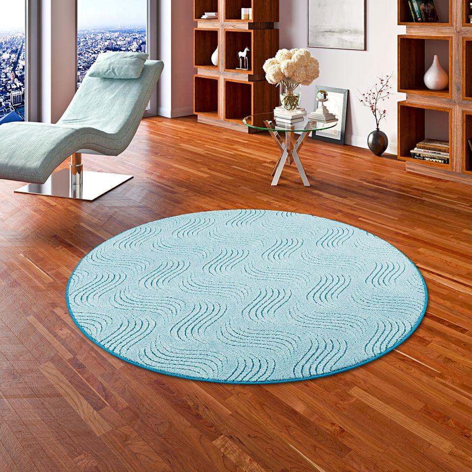 konturenschnitt hochflor langflor teppich frieda t rkis. Black Bedroom Furniture Sets. Home Design Ideas