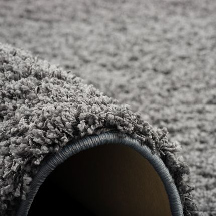 Luxus Hochflor Langflor Teppich Milano Grau Rund online kaufen