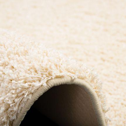 Luxus Hochflor Langflor Teppich Milano Creme Rund online kaufen