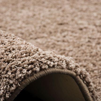 Luxus Hochflor Langflor Teppich Milano Mauve Rund online kaufen