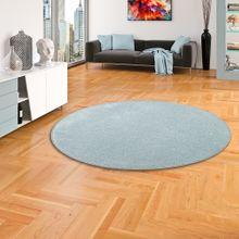 Hochflor Velours Teppich Luna Stone Rund online kaufen