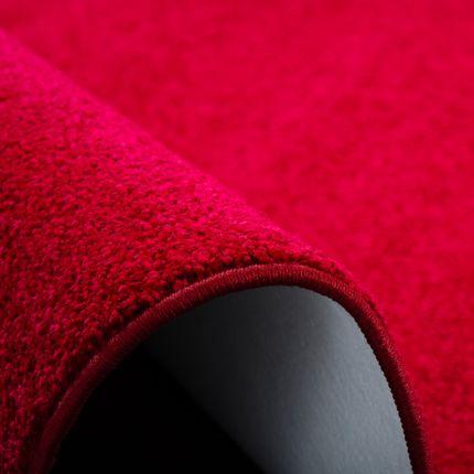 Hochflor Velours Teppich Luna Rot Rund online kaufen
