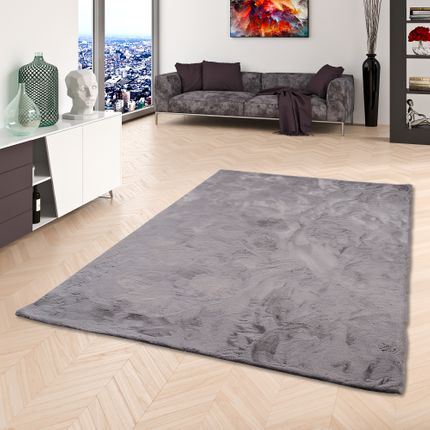 Luxus Super Soft Fellteppich Plush Grau
