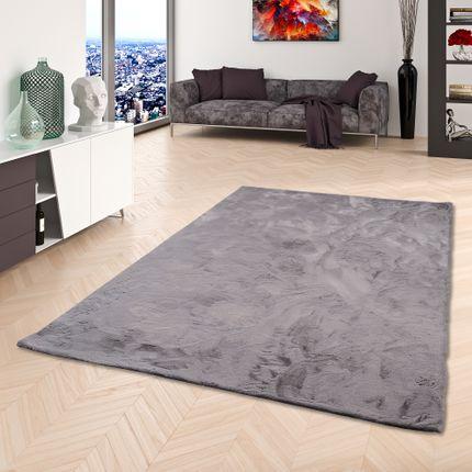 Luxus Super Soft Fellteppich Plush Grau online kaufen