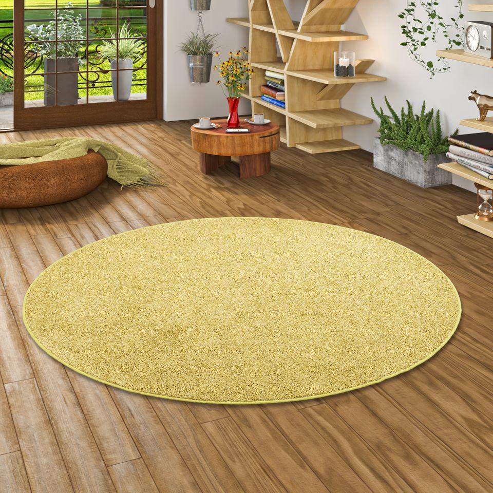 teppich hochflor shaggy cottage gr n rund teppiche. Black Bedroom Furniture Sets. Home Design Ideas