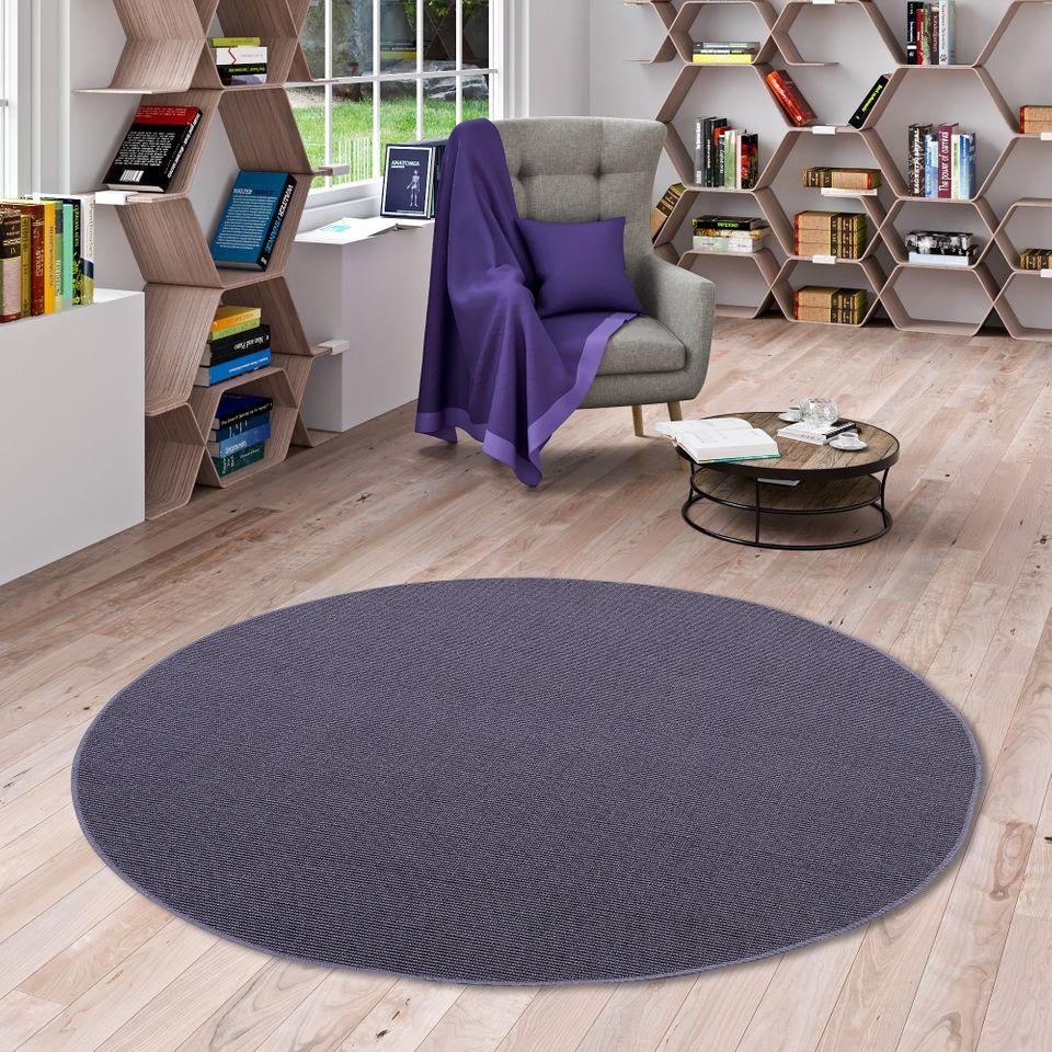 sisal natur teppich astra blau rund teppiche sisal und. Black Bedroom Furniture Sets. Home Design Ideas