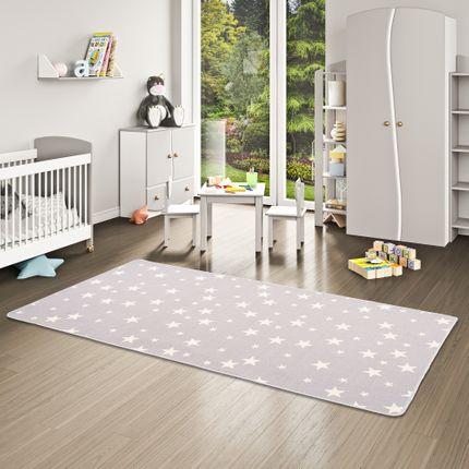 Kinder Spiel Teppich Sterne Grau online kaufen