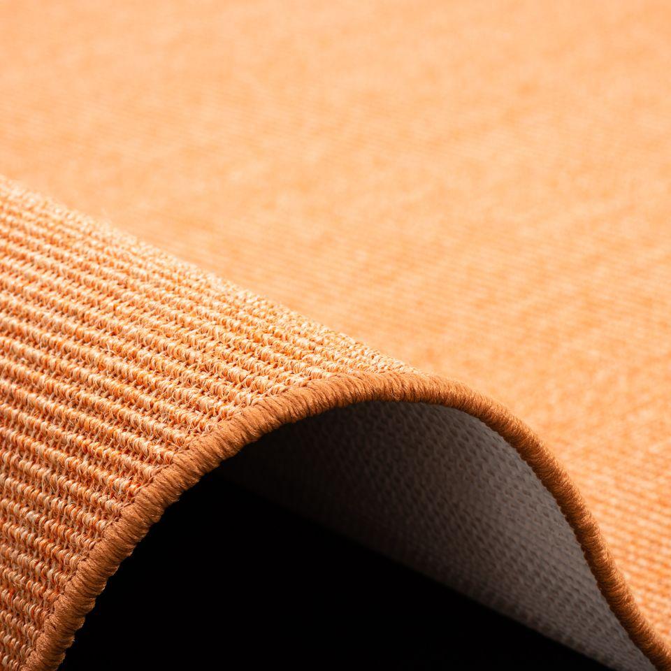 sisal natur teppich astra orange rund teppiche veloursteppiche kr usel velours triumph und mona. Black Bedroom Furniture Sets. Home Design Ideas