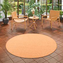 Sisal Natur Teppich Astra Orange Rund online kaufen