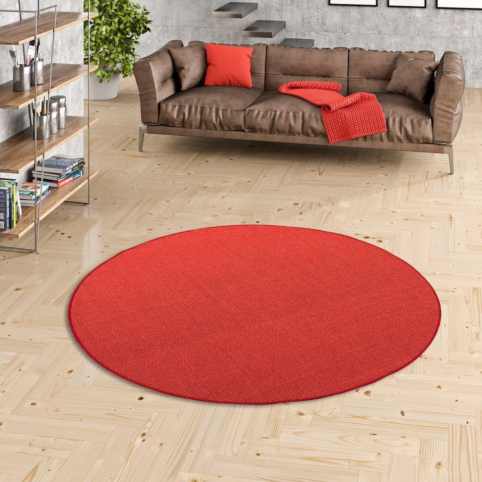 sisal natur teppich astra rot rund ebay. Black Bedroom Furniture Sets. Home Design Ideas