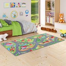 Kinder Spiel Teppich Little Village Grün online kaufen