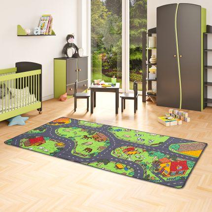 Kinder Spiel Teppich Bauernhof Grün online kaufen