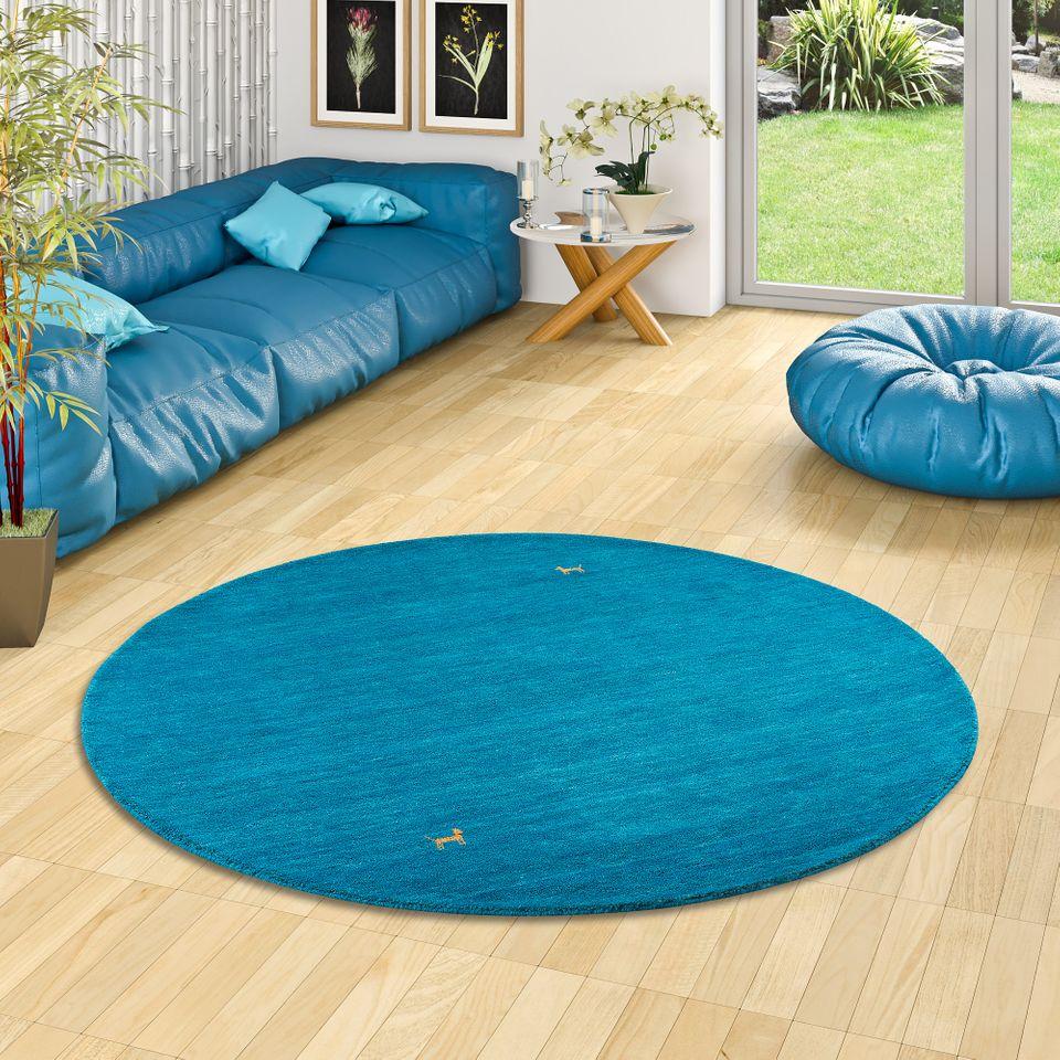 natur teppich indo napal gabbeh shiva t rkis rund teppiche. Black Bedroom Furniture Sets. Home Design Ideas