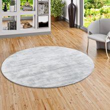 Luxus Designer Teppich Roma Silbergrau Rund online kaufen