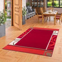 Teppich Modern Trendline Rot Bordüre online kaufen