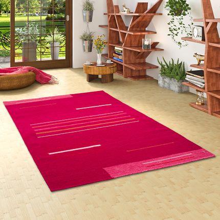 Natur Teppich Kelim Toscana Pink Trend online kaufen