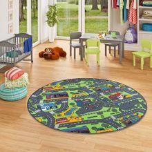 Kinder Spiel Teppich City Play Rund online kaufen