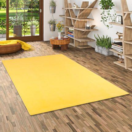 Basic Velours Teppich Carla Gelb online kaufen