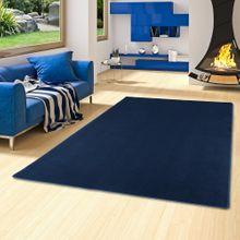 Basic Velours Teppich Carla Denim Blau online kaufen
