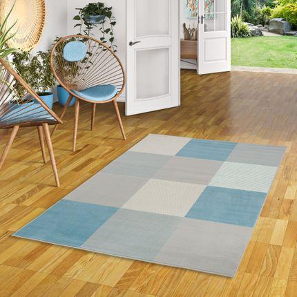 Teppich Modern Trendline Blau Karo