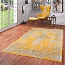 Designer Teppich Passion Vintage Bordüre Safran Gelb online kaufen