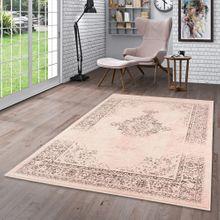 Designer Teppich Passion Vintage Bordüre Rosa Beige online kaufen