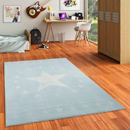 Kinder und Jugend Teppich Trendline Modern Stars Blau online kaufen