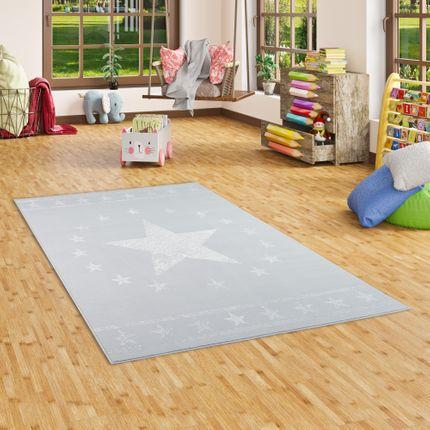 Kinder und Jugend Teppich Trendline Modern Stars Grau online kaufen